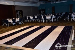 Black & White Striped Starlit Dancefloors