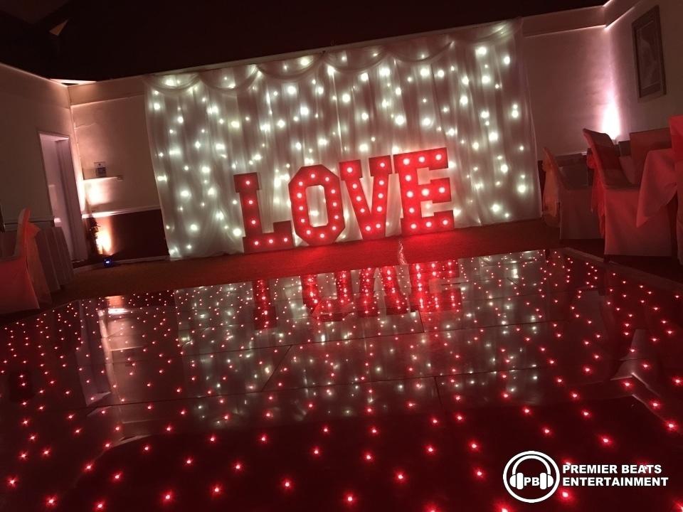 Warm White Starlit Backdrop Starlit Dancefloor Amp Love