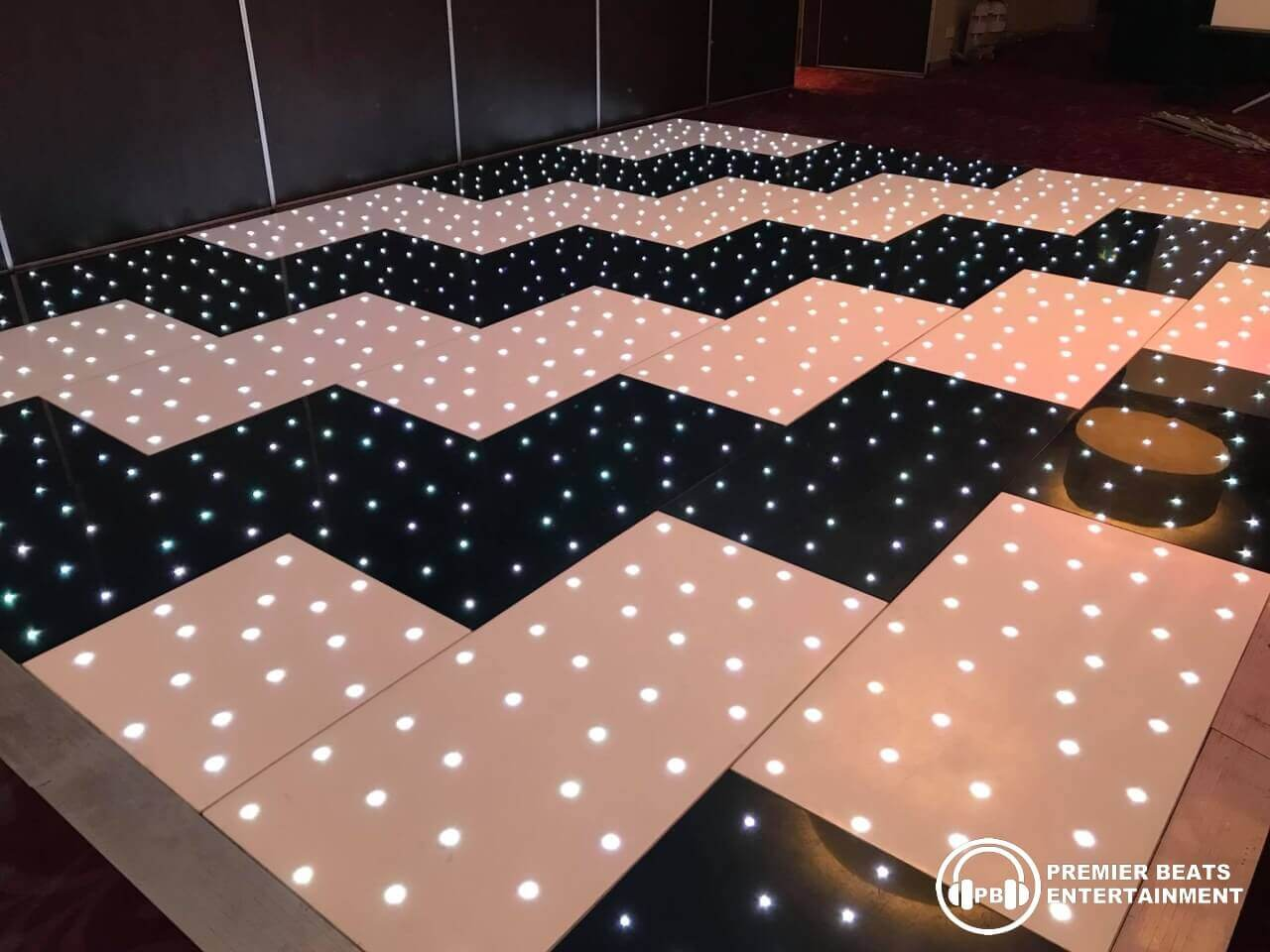 Black & White Zig Zag Starlit Dancefloor